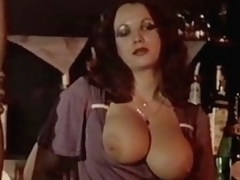 Busty and hairy women fuck in undertaking of other guests
