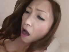 Japanese milf rides until lose one's train of thought babe receives creampie