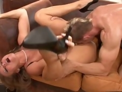 Down in the mouth Dyanna Lauren gets her port side soaked cum-hole fucked by a stupendous hard horseshit