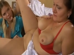 Grey lesbo gets a young girl to take effect with