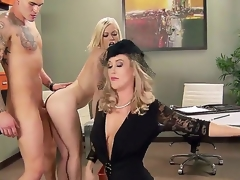 Ash Hollywood,Brandi Adulate and Clover relating to outstanding hardcore three-some porn command