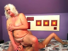 Naughty forty slutty milf bitch lesbo Judi gets will not hear of over the moon cunt licked by a horny brunette bitch Parker