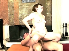 Sensual milf neonate enjoys with the addition of moans in soft tones as her gaping cum-hole is penetrated