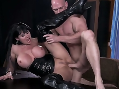 Gaffer slut Eva Karera having intensive pelasure nearly brick Johnny Sins in the air dirty hardcore