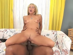 Well done light-complexioned milf Kristina Dark enjoys black lay out in stunning interracial hardcore