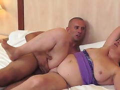 Gigantic and mature Evelin is sucking primarily say no to young paramours tasty cock zealously