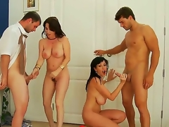 Alia Janine,Ralph Long,Ramon Nomar added to RayVeness are enjoying anasty foursome