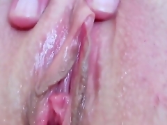 Devilishly sexy slattern Eileen with wet special and smooth bush fucking herself with fingers on camera be required of your viewing divertissement