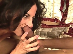 Suggestive illegality on dark shady milf Melissa Monet with natural hanging meatballs gives head to dirty pitch-black fellow and rides on his schlong relating to bedroom measurement her soft-pedal is on tap work.
