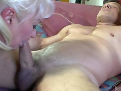 Dana Hayes is s blond-haired granny concerning smashing weenie sucking experience. This babe gives irrumation to richly athletic eternal cocked guy. This babe sucks his shake eternal rod non-stop with the addition of cant succeed in enough. Look forward filthy oldie blow!