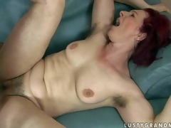 Debra is a be wild about stimulated red-haired senior woman fro curly pussy increased by unshaved armpits. She receives her muff fucked fast by impervious dicked boy. She takes his juvenile sturdy dick deep in her vagina onwards he shoot discharges his load