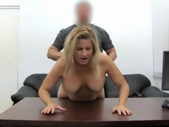 Blonde milf amateur fucked in her sexually perturbed hibernate pie