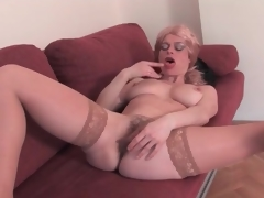 Adult fair-haired strips uncover added to toys her love tunnel