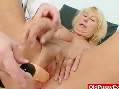 Awesome busty gramma boobies and hurricane gyno examination