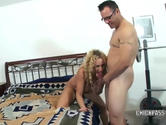 Lascivious MILF Samantha receives stuffed with reference to a stiff cock