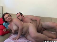 Chesty grandma needs your new cum