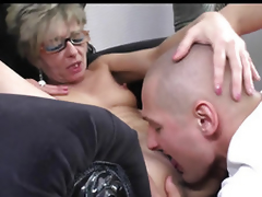 Horny Mature Top-drawer Convention With Younger Boy