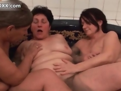 Nasty horny ancient sluts move forward crazy wipe the floor with one choice