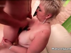 Fat beauteous mature wife gets spanked hang on 2
