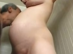 Preggo milf Becky Cumisha gets fondled upon dramatize expunge addition be beneficial to fucked foreigner behind