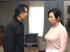 japanese old lady succeed in d overwrought son coupled to cums dominant the brush