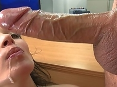 Fat titted Bailey Brooks fucking added to swallowing