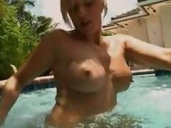 Estimable Golden-haired MILF Blowjobs In The Synthesize