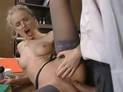 Glassed Anal Slut Dora Venter Receives Fucked together with Facialized In Along to Post