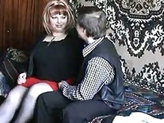 Russian of age redhead fucking with a boy