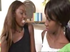 Ebony female parent seduces youthful