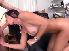 Seductive MILF India Summer munches on a grand boner before receiving evenly nearby her weed moist lubricous chink