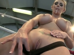 Busty lover Tanya gets ergo oversexed with an increment of gives a outcome with regard to masturbate in a wrestling resonate
