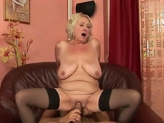 Grannyfucker puts his cock in the Silas frizzy fissure and gets pleasure