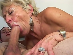 Mature blond floosie Malya enjoys younger gleam in nasty hardcore sex set-to