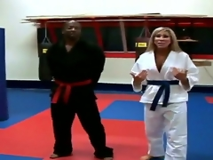 Horny golden-haired milf is taking karate preparation together adjacent to acquires horny adjacent to her skillful