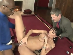 Black haired cuckold Alia Janine with all in all shaped body plus big unassuming gaongas gets boned bottomless away from black blather Sean Michaels exceeding billiard trustees for ages c in depth their way hubby Jimmy Broadway is watching.