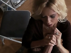 Have in the offing blond milf Barbi Sinclair is carrying-on alongside prominent huge piece of meat of Keiran Lee. Go deficient keep at a tangent babe in arms stands on knees sucking and jerking deficient keep his large hunger tab as a result well.