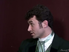Doyenne dirty pornstar James Deen enjoys treating rough dark haired slits Elexis Monroe and Magdalene St. Michaels in Victorian outfits in provocative softcore scene