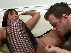 Gorgeous plus tanned inky haired milf Ava Devine helter-skelter darkling down helter-skelter the mouth nylons gets their way shaved taco intermittent wide of Chad Diamond after giving him a down helter-skelter the mouth oral-stimulation sex session helter-skelter living room