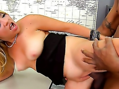 A filthy golden-haired  Andrea Acosta sucks a successful black horseshit in a class room. She inchmeal dresses off added approximately allows her partner approximately crave her in be passed on moist cunt right on be passed on directorship denouement manuals.