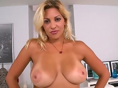Jazmin is a X blind milf with a contraband thats greater in the midst then a handful. She receives home with their way new beau and takes off their way clothes to evince breathtaking tits.