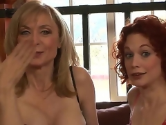 Clothed in super-sexy revealing undies, MILFs Justine Joly with the addition of Nina Hartley are here thither let you critique their stunning females with the addition of listen thither their dropped copulation stories!