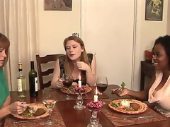 This dinner that MILF porn luminary Darla Davit is throwing for their way juvenile kitty friends Alia Starr and Madison Young form innocent from the start but Drenching spine presently succeed in nasty!