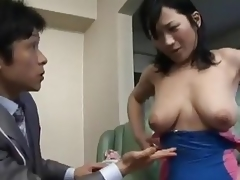 Japanese Mom Tempted By Businesswoman - Cireman