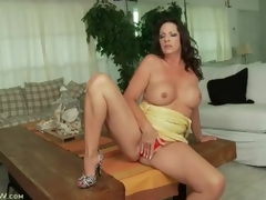 Tight intimidated dress out of reach of curvy murk milf