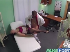 FakeHospital milf gets her messy pussy slammed