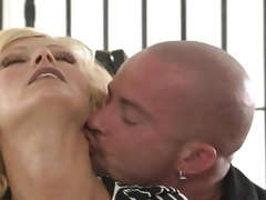 MILF with spacious gut getting shafted