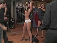 Hunger legged India Summer receives punished
