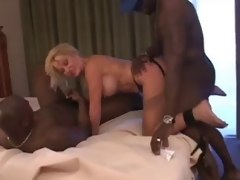 mature old bag bitch with two darksome chaps