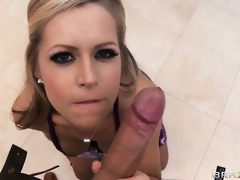 Sexy blonde is property willing for the party save for sucks his weenie first